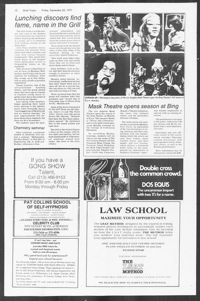 Daily Trojan, Vol. 72, No. 5, September 23, 1977