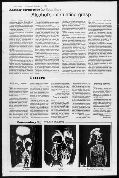 Daily Trojan, Vol. 68, No. 55, December 10, 1975