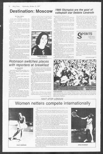 Daily Trojan, Vol. 72, No. 22, October 19, 1977