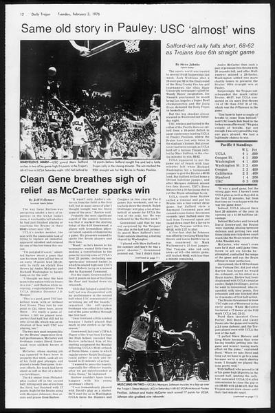 Daily Trojan, Vol. 68, No. 66, February 03, 1976