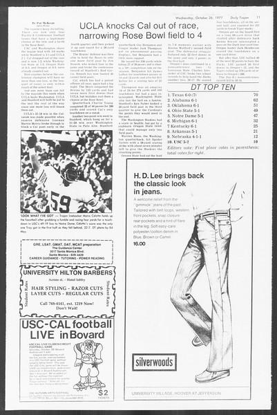 Daily Trojan, Vol. 72, No. 27, October 26, 1977