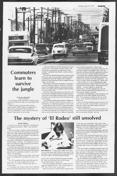 Daily Trojan, Vol. 71, No. 42, April 19, 1977