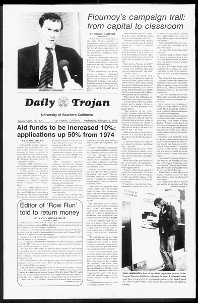 Daily Trojan, Vol. 67, No. 67, February 05, 1975