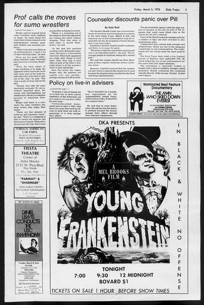 Daily Trojan, Vol. 68, No. 87, March 05, 1976