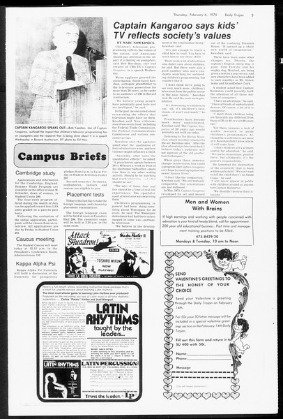 Daily Trojan, Vol. 67, No. 68, February 06, 1975