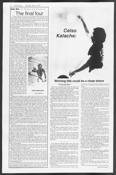 Daily Trojan, Vol. 71, No. 53, May 05, 1977