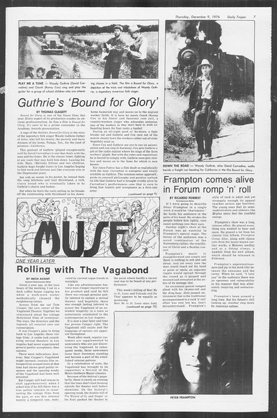 Daily Trojan, Vol. 70, No. 51, December 09, 1976