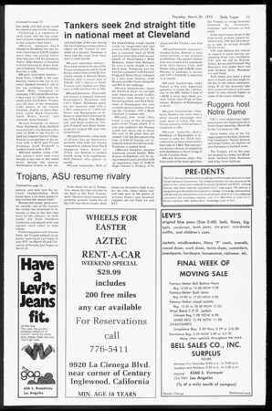 Daily Trojan, Vol. 67, No. 96, March 20, 1975