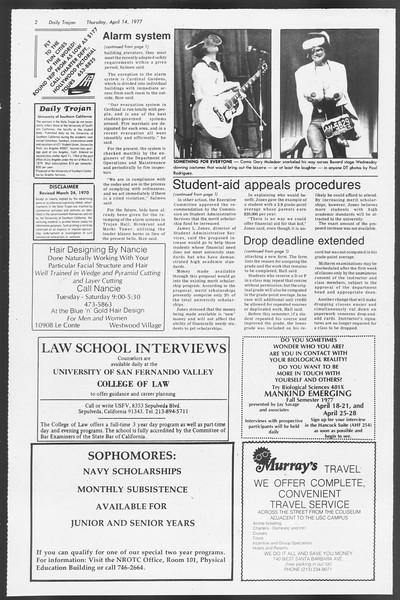 Daily Trojan, Vol. 71, No. 39, April 14, 1977