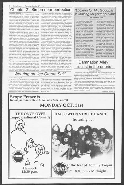 Daily Trojan, Vol. 72, No. 28, October 27, 1977