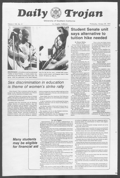 Daily Trojan, Vol. 68, No. 31, October 29, 1975