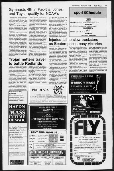 Daily Trojan, Vol. 68, No. 90, March 10, 1976