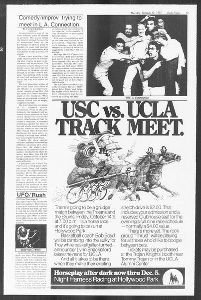 Daily Trojan, Vol. 72, No. 18, October 13, 1977