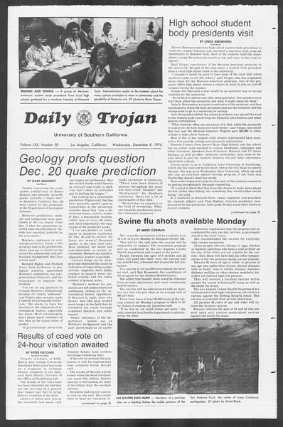 Daily Trojan, Vol. 70, No. 50, December 08, 1976