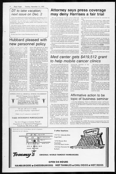 Daily Trojan, Vol. 68, No. 48, November 25, 1975