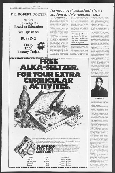 Daily Trojan, Vol. 71, No. 46, April 26, 1977