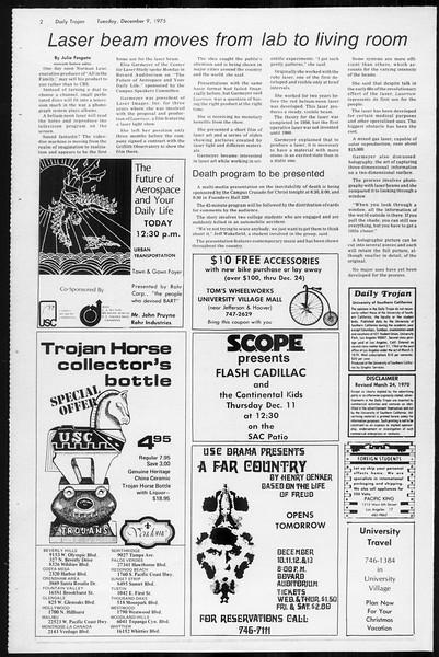Daily Trojan, Vol. 68, No. 54, December 09, 1975