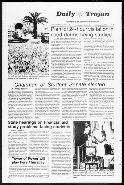 Daily Trojan, Vol. 67, No. 128, May 14, 1975