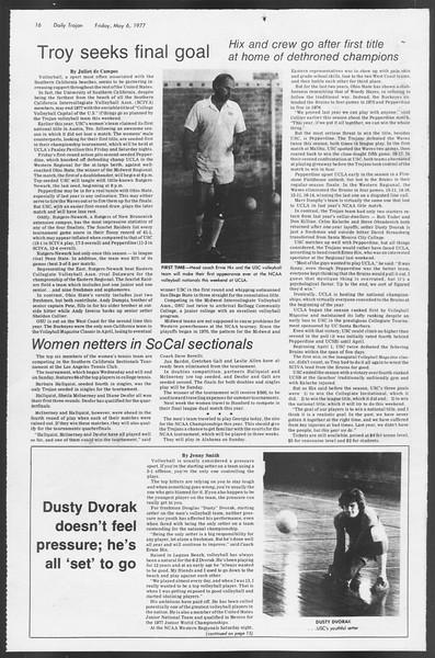 Daily Trojan, Vol. 71, No. 54, May 06, 1977