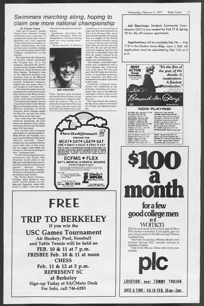 Daily Trojan, Vol. 71, No. 2, February 09, 1977