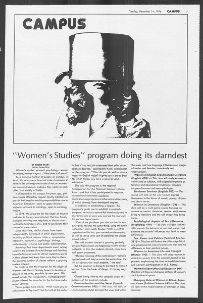 Daily Trojan, Vol. 70, No. 54, December 14, 1976