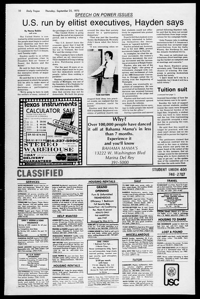 Daily Trojan, Vol. 68, No. 7, September 25, 1975