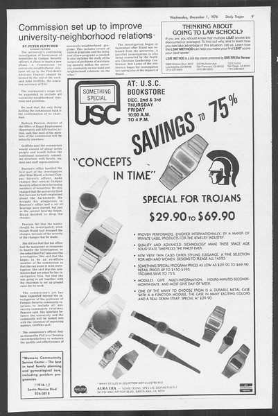 Daily Trojan, Vol. 70, No. 45, December 01, 1976