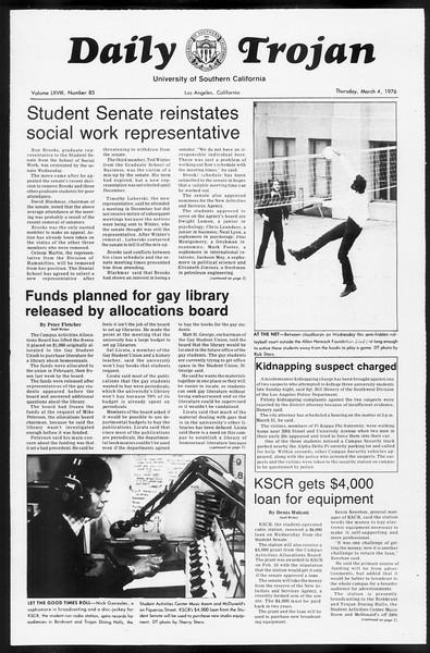 Daily Trojan, Vol. 68, No. 86, March 04, 1976