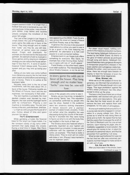 SoCal, Vol. 67, No. 106, April 14, 1975