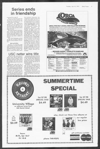 Summer Trojan, Vol. 72, No. 5, July 12, 1977