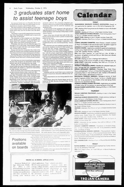 Daily Trojan, Vol. 67, No. 13, October 02, 1974
