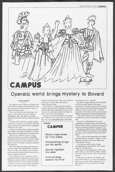 Daily Trojan, Vol. 70, No. 20, October 18, 1976