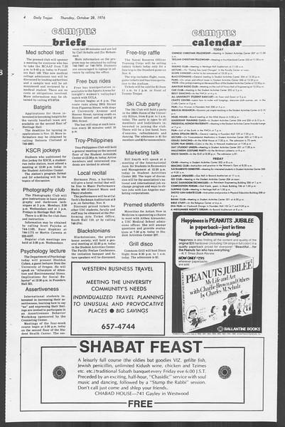 Daily Trojan, Vol. 70, No. 28, October 28, 1976