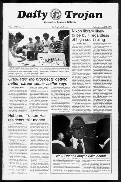 Daily Trojan, Vol. 68, No. 118, April 28, 1976