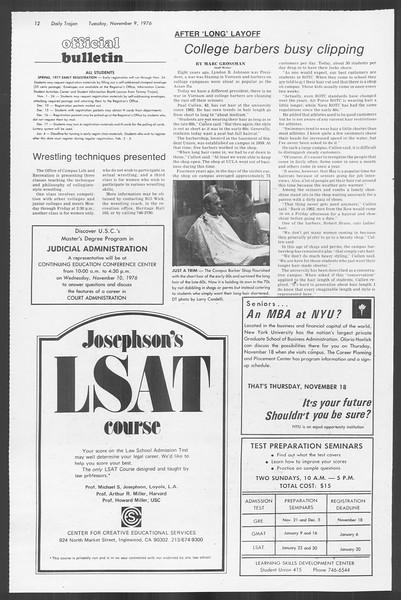 Daily Trojan, Vol. 70, No. 34, November 09, 1976