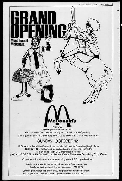Daily Trojan, Vol. 68, No. 13, October 02, 1975