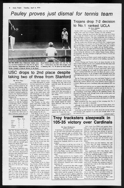 Daily Trojan, Vol. 68, No. 109, April 06, 1976