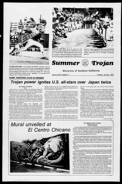 Summer Trojan, Vol. 68, No. 3, June 24, 1975