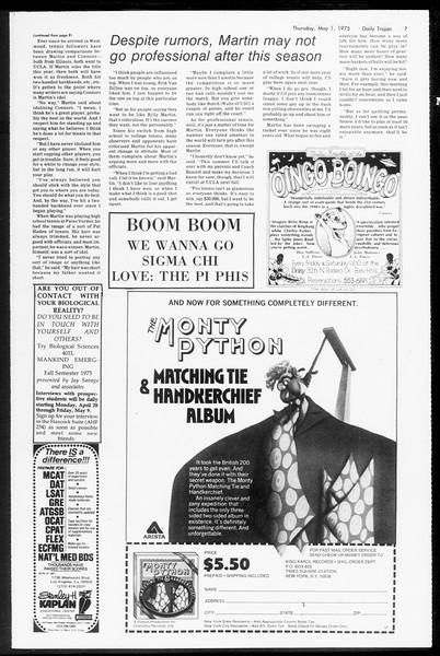 Daily Trojan, Vol. 67, No. 119, May 01, 1975