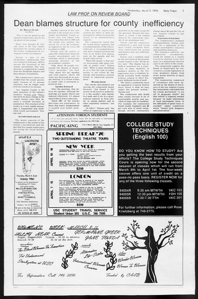 Daily Trojan, Vol. 68, No. 85, March 03, 1976