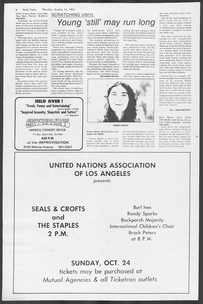 Daily Trojan, Vol. 70, No. 18, October 14, 1976