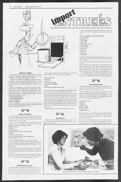 Daily Trojan, Vol. 71, No. 32, March 25, 1977