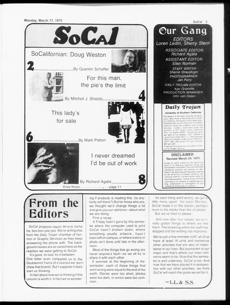 SoCal, Vol. 67, No. 93, March 17, 1975