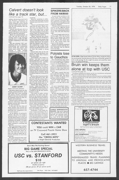 Daily Trojan, Vol. 70, No. 26, October 26, 1976