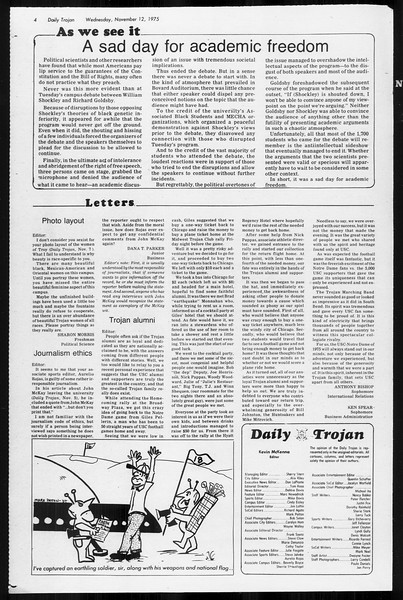 Daily Trojan, Vol. 68, No. 39, November 12, 1975