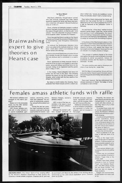 Daily Trojan, Vol. 68, No. 84, March 02, 1976