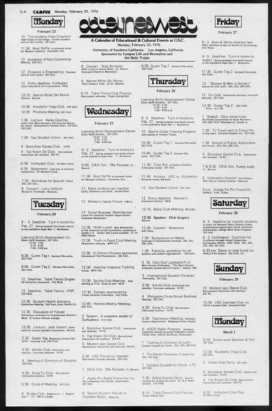 Daily Trojan, Vol. 68, No. 78, February 23, 1976