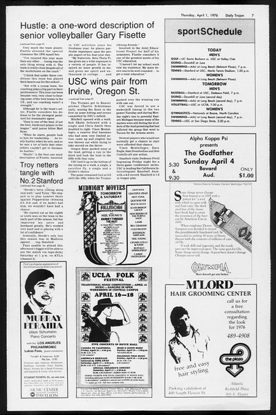 Daily Trojan, Vol. 68, No. 106, April 01, 1976