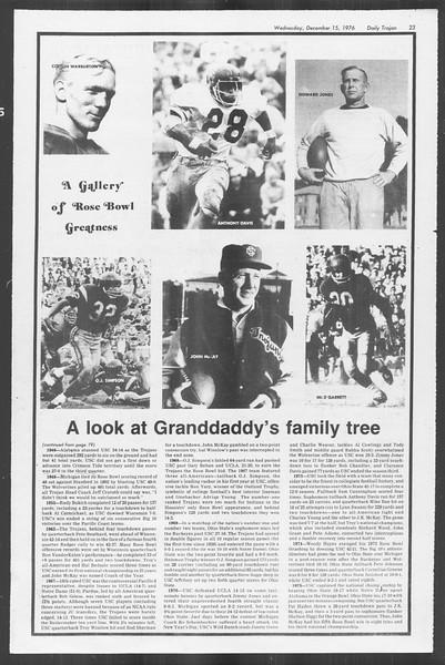Daily Trojan, Vol. 70, No. 55, December 15, 1976