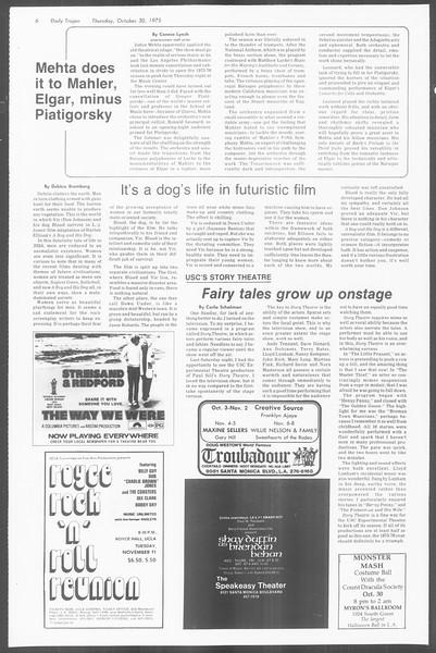 Daily Trojan, Vol. 68, No. 32, October 30, 1975